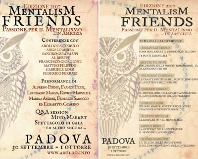 Protetto: Mentalism Friends 2017
